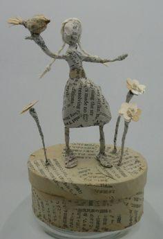 .Paper mache doll