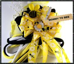 Mommy To Bee Corsage Baby Shower Corsage Bee by BloomingParty, $16.00