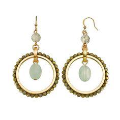 SONOMA life + style® Bead Hoop Drop Earrings