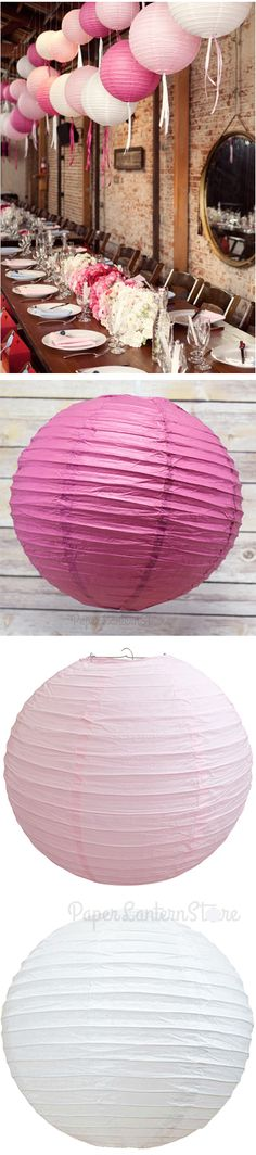 Loving the shades! You can steal this look using violet, pink and white paper lanterns. Our lowest priced paper lantern is $0.85 per piece (price varies on sizes) This look is ideal for your #wedding reception and would amazing on pictures! #decor #WeddingIdeas #GetThatLook