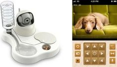 The Remoca allows you to automatically dispense food & water for your pet, and can capture video!
