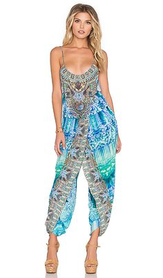 Shop for Camilla Franks Wrap Waist Jumpsuit in Topkapi Sky at REVOLVE. Free 2-3 day shipping and returns, 30 day price match guarantee.