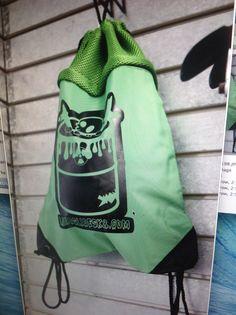 $20 pull string bag 'toxic can logo'
