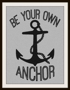 Be Your Own Anchor Teen Wolf Inspired Tattoo.