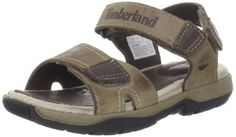 Timberland Pirates Cove-3-Strap Sandal (Toddler/Little Kid/Big Kid) Timberland. $41.33. Crash blaster technology for provides enhanced cushioning. Leather lining and footbed for comfort. Two straps with hook-and-loop adjustability for optimal fit. leather. Durable green rubber 42 percent recycled rubber outsole. Rubber sole. Premium burnished leather upper