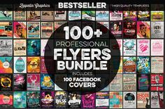 100+ Flyers Bundle + FB Covers by Zeppelin Graphics on @creativemarket