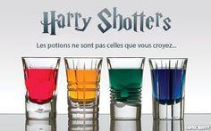 Découvrez le concept Harry Shotters : des shooters sur le thème d'Harry Potter à concocter pour vos soirées ! Génial !