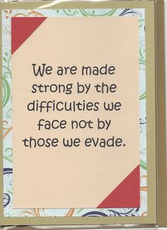 Handmade Greeting Card  Encouragement  Embellished by JoniqueCards, $4.50