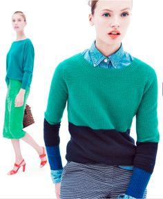Colour block knits