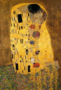 Gustav Klimt - The Kiss (detail 1) - Fine Art Print