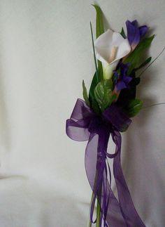 Silk Wedding Flowers Calla lilly bouquet by BudgetWeddingBouquet, $26.00