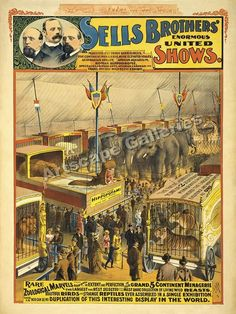 1895 Zoological Marvels Classic Circus Poster 24x32 | eBay