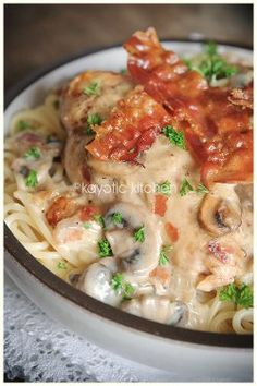 Country Club Chicken | AllFreeCopycatRecipes.com, Put on mashed potatoes instead of spagetti. YUM !