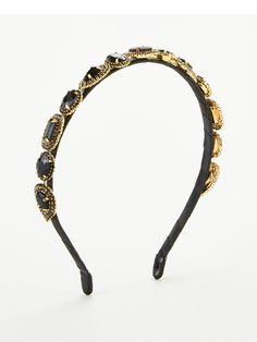V By Very Thin Jewel Embellished Headband - Black Thin Headbands, Black Jewel, B Cup, High Leg Boots, Long Toes, Latest Fashion, Jewels, Gold