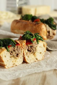 The BEST Philly Style Roast Pork Sandwich ever. This easy recipe is made in the slow cooker and is better than the famous Philly favorite. Pork Roast Recipes, Crockpot Recipes, Cooking Recipes, Roast Pork Sandwich, Philly Style, Italian Roast, Shredded Pork, Braised Pork, The Best