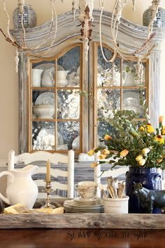 Savvy Southern Style: ascp french linen - for a softer grey mix 50/50 with old white