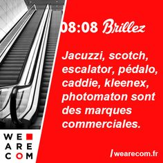 Les savoirs inutiles en communication - We Are COM Escalator, Jacuzzi, Scotch, Club, Photo Booth, Coffeemaker, Scotch Whiskey, Hot Tubs