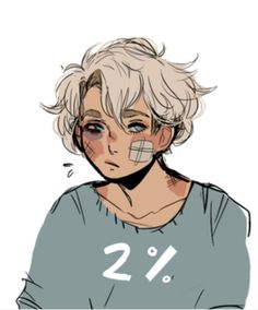 Garroth after getting beat up by the Shadow Knights in flower shop AU