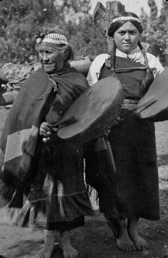 Mapuche shaman's drum. Many Mapuche people still observe their Native rituals…