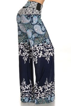 2d273af1110 Blue On Blue Palazzos Wide Leg Palazzo Pants