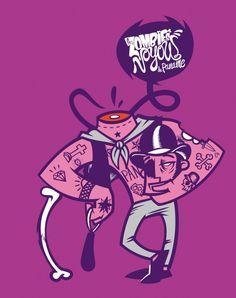 clockwork orange influence - French Gang | illustration by Meka