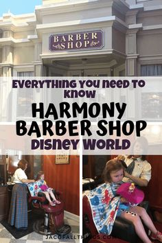 Getting a haircut at Harmony Barber Shop on Main Street in Magic Kingdom, Disney World is the most magical experience.Learn everything you need to know about the barber shop including first haircut packages! Disney World Tips And Tricks, Disney Tips, Walt Disney, Disney World Planning, Disney World Trip, Best Family Vacations, Disney Vacations, Main Street Barber Shop, Disney Photo Pass