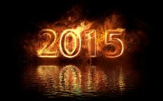 Fire And Water 2015 New Year Wallpaper