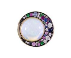 Tilsam Opal and Mixed Gem Eclipse Ring