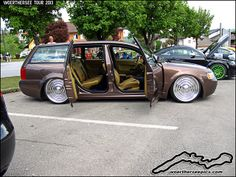 passat wagon custom | Custom VW Passat B5 wagon with suicide rear doors at the Woerthersee ...