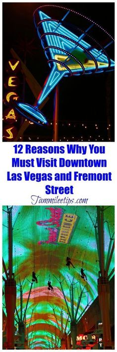 12 reasons to visit Downtown Las Vegas and Fremont Street! Things to do, restaurants, Fremont Street Experience, Zipline, Food, People and more! So much fun in Vegas!