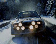 Audi in the snow