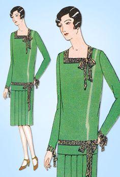 1920s VTG Ladies Home Journal Sewing Pattern 5157 Uncut Flapper Dress Size 36 B #LadiesHomeJournal #FlapperFrock