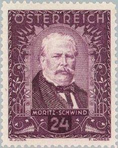 Moritz von Schwind (1804-71) painter Moritz Von Schwind, Logo Design, Graphic Design, How To Make Paper, Postage Stamps, Printmaking, Painters, Postcards, Illustration