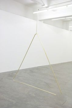 Lauren Brincat, One without the Other, 2013 (Brass, Rope)