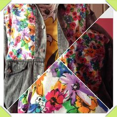 added flower material to my jacket