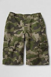 Boys' Camouflage Ripstop Pull-on Cargo Shorts