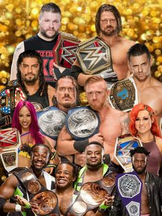 The current champions in the WWE.