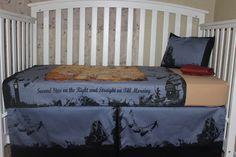 Peter Pan Themed 5 Piece Crib Bedding Set