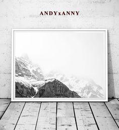 mountain print black and white mountain mountain art by andyxanny