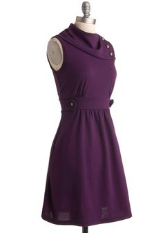 Coach Tour Dress in Violet. Sometimes a dress is so magical, it makes you long for somewhere special and new to wear it. #purple #modcloth