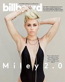 Über Fashion Marketing: Miley Cyrus - cada dia mais fancha - na capa da Billboard