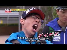 Yoo Jae Suk Team Funny Sitting On A Cone Mission