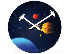 Into the Universe Wall Clock    @Lauren Peterson