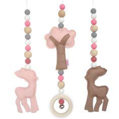 Dekoration - Baby spielen Turnhalle Spielzeug Hirsch und Baum - ein Designerstück von Essies bei DaWanda