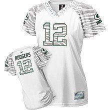 Women Green Bay Packers 52 Clay Matthews Zebra Fashion Jersey