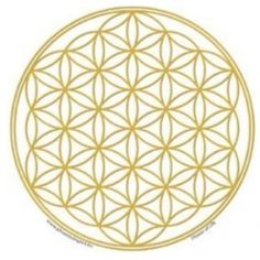 Raamsticker Flower of Life Goud