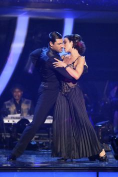 Maksim Chmerkovskiy and Meryl Davis  -  dancing one hot tango  -   Dancing With the Stars  -  week 6 -  Season 18  -  Spring 2014