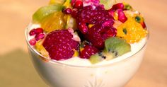 Kiwi, Fruit Salad, Parfait, Acai Bowl, Mousse, Panna Cotta, Pudding, Breakfast, Ethnic Recipes