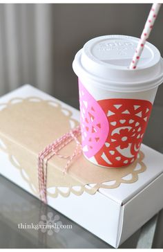 DIY cups and boxes f