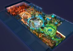 IdeAttack concept design for new $100m indoor #themepark in Yinchuan City #China